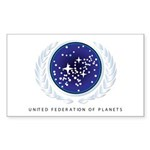 United Federation of Pla Sticker (Rectangle 10 pk)