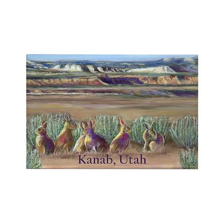 Rabbits Kanab Utah Rectangle Magnet