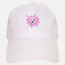 Girls Kick It Soccer Baseball Baseball Cap