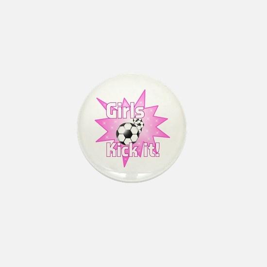 Girls Kick It Soccer Mini Button