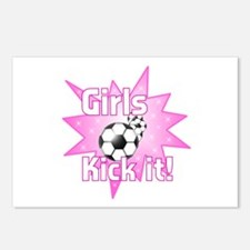 Girls Kick It Soccer Postcards (Package of 8)