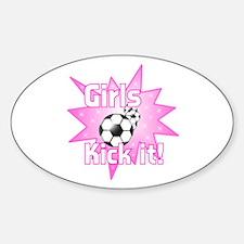 Girls Kick It Soccer Decal
