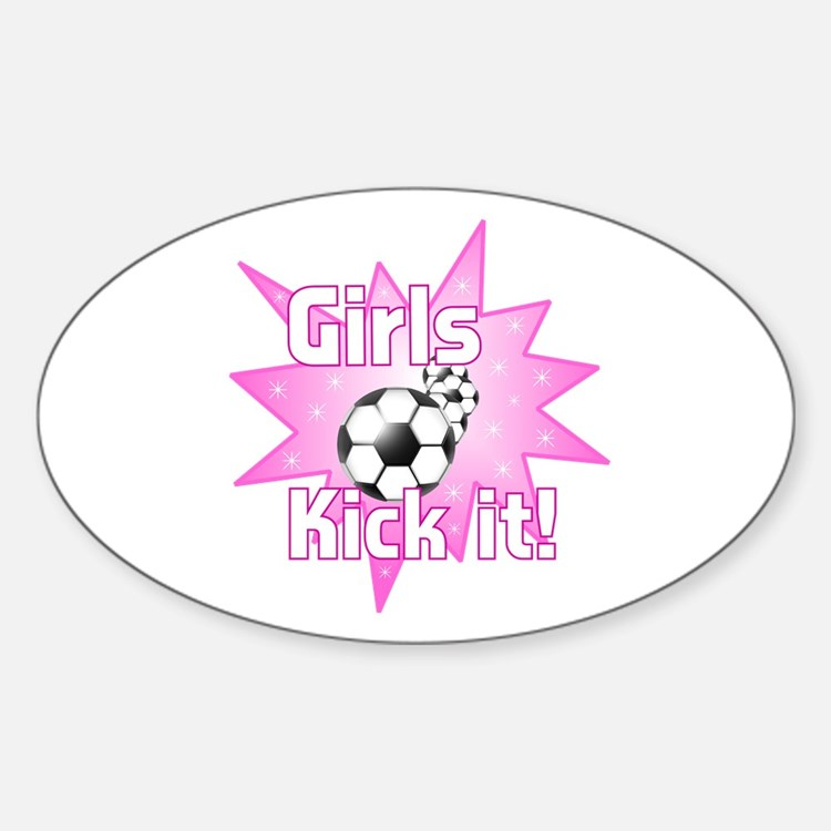 Girls Kick It Soccer Decal