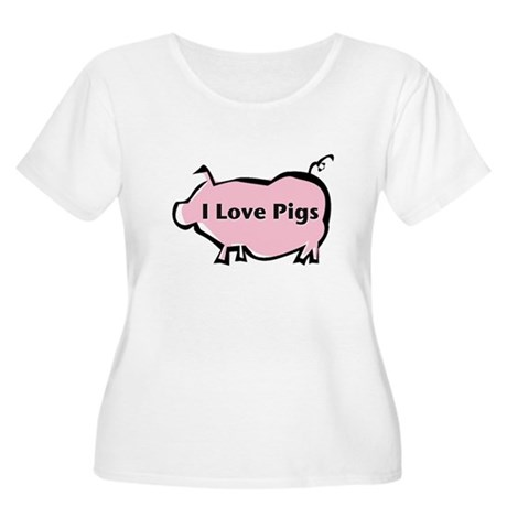 Pig Women's Plus Size Scoop Neck T-Shirt