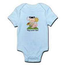Pig Lovin' Girl Infant Bodysuit