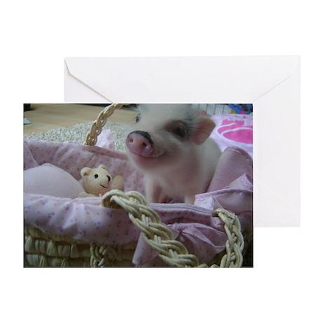 Cute Piggy Greeting Card
