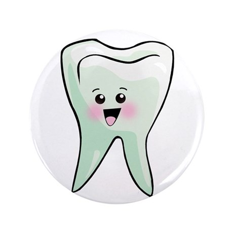"""Happy Tooth 3.5"""" Button (100 pack)"""