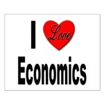 I Love Economics Small Poster