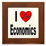 I Love Economics Framed Tile