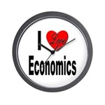I Love Economics Wall Clock