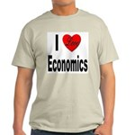I Love Economics (Front) Ash Grey T-Shirt