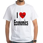 I Love Economics (Front) White T-Shirt