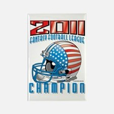 2011 FFL Champion Helmet Rectangle Magnet