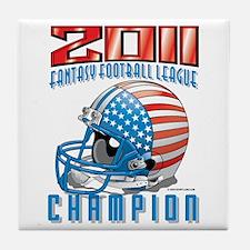 2011 FFL Champion Helmet Tile Coaster