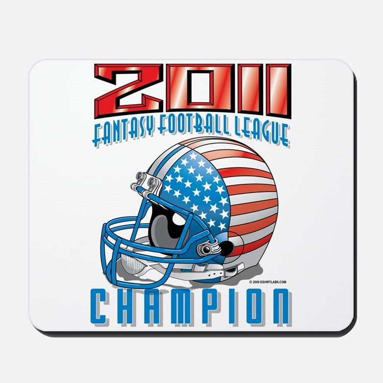 2011 FFL Champion Helmet Mousepad