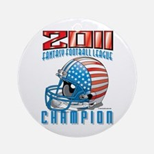 2011 FFL Champion Helmet Ornament (Round)