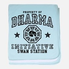 Dharma Swan baby blanket