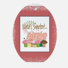 Sweetest Godmother Ornament (Oval)