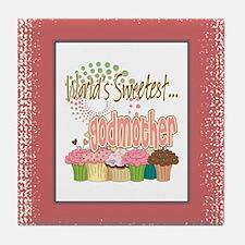 Sweetest Godmother Tile Coaster