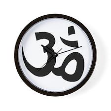 Yoga Om Wall Clock