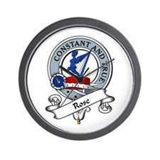 Rose Clan Badge Wall Clock