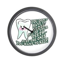 Floss Those Teeth Wall Clock