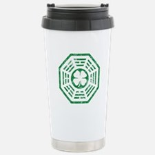 Dharma Luck Green Stainless Steel Travel Mug