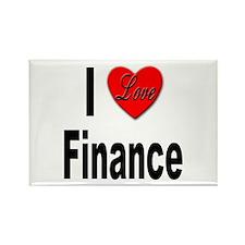 I Love Finance Rectangle Magnet