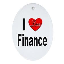 I Love Finance Oval Ornament