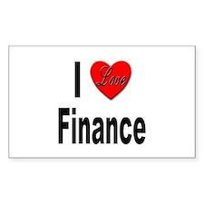 I Love Finance Rectangle Decal