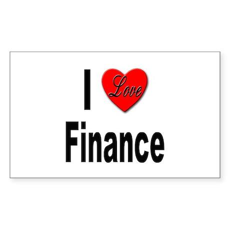 I Love Finance Rectangle Sticker