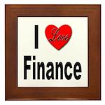 I Love Finance Framed Tile