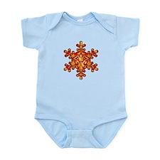 Gold Leaf Snowflake Infant Bodysuit