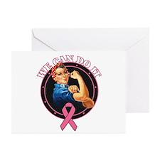 BreastCancer WeCanDoIt Greeting Cards (Pk of 20)