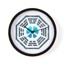 Dharma Blue Peace Wall Clock
