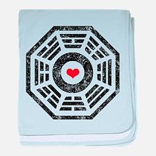 Dharma Red Heart baby blanket