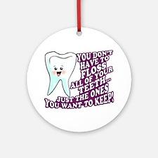 Dental Hygienists Ornament (Round)