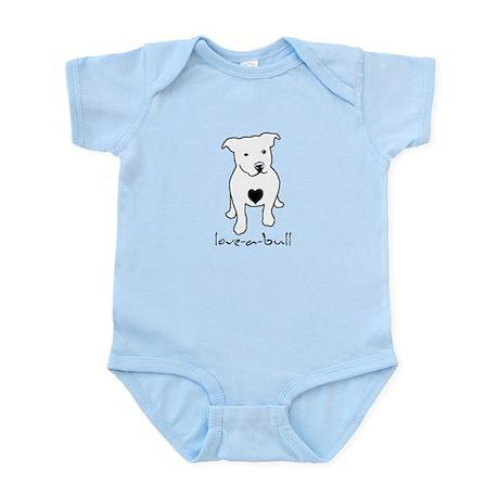 Love-a-Bull Pit Bull Infant Bodysuit