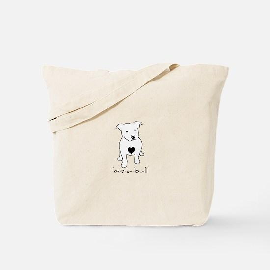 Love-a-Bull Pit Bull Tote Bag