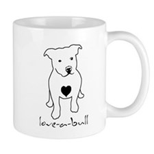 Love-a-Bull Pit Bull Small Mugs