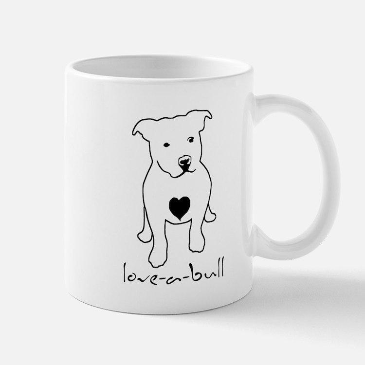 Love-a-Bull Pit Bull Small Mugs