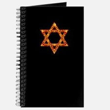 Gold Leaf Star of David Journal