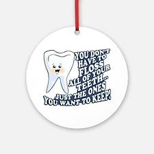Promote Dental Hygiene Ornament (Round)