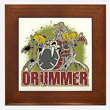 Skeleton Drummer Framed Tile