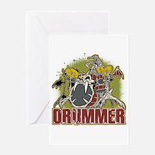 Skeleton Drummer Greeting Card