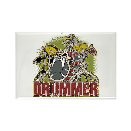 Skeleton Drummer Rectangle Magnet (10 pack)