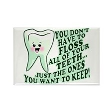 Funny Dental Hygiene Rectangle Magnet