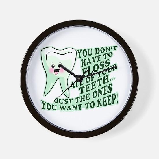 Funny Dental Hygiene Wall Clock