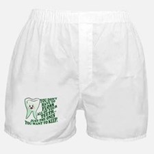 Funny Dental Hygiene Boxer Shorts