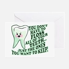 Funny Dental Hygiene Greeting Card